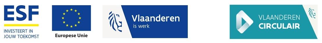 Combinatielogo ESF vlaio Vlaanderen Circulair