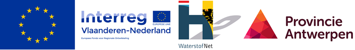 Logos Waterstofnet Europa Interreg Provincie