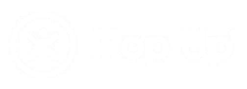 Logo Hop Up nieuw wit