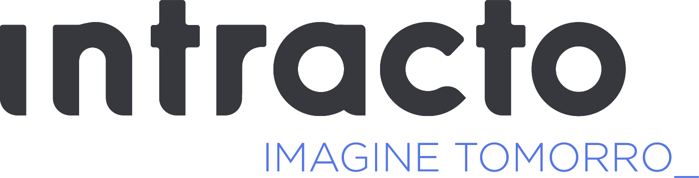 Logo intracto base positief grijs blauw 4x rgb